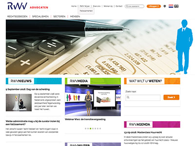 Website + intranet RWV Advocaten - Etopia